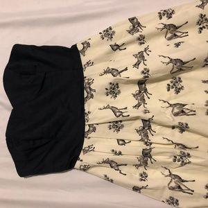 Size 2 Anthropologie Dress - Deer pattern